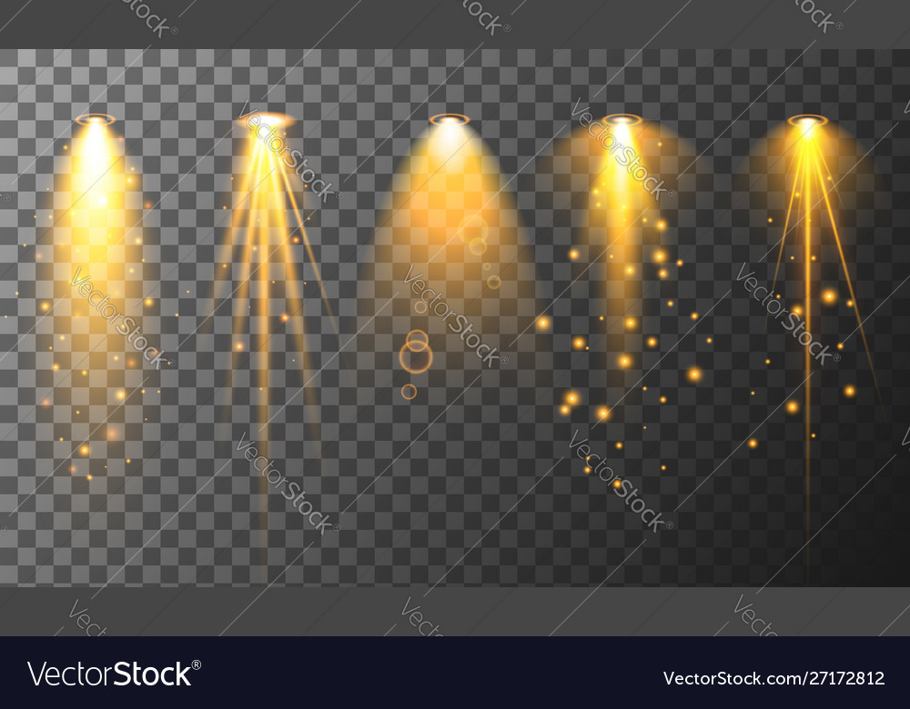 Collection different vertical flare light