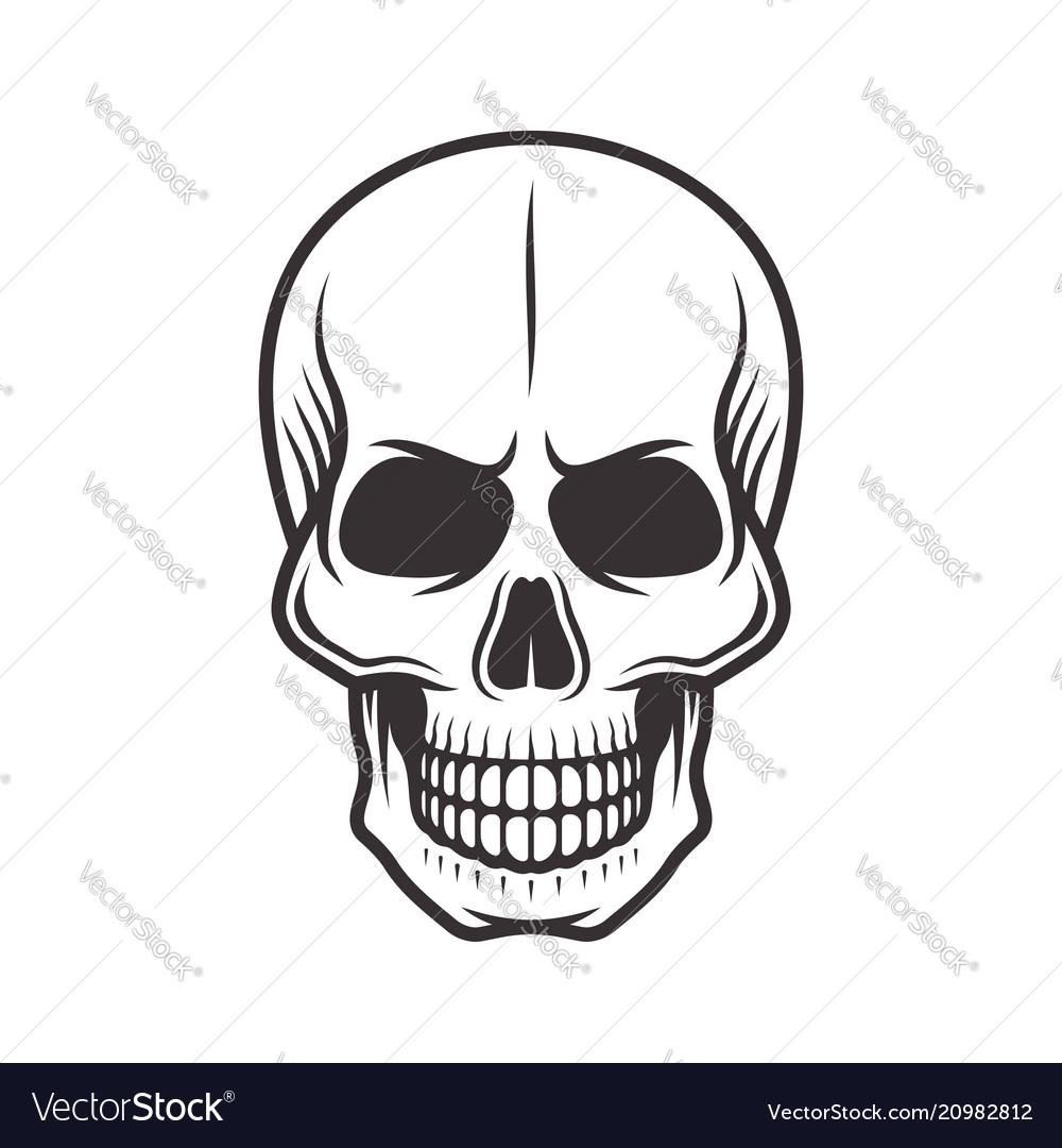 Human skull monochrome style