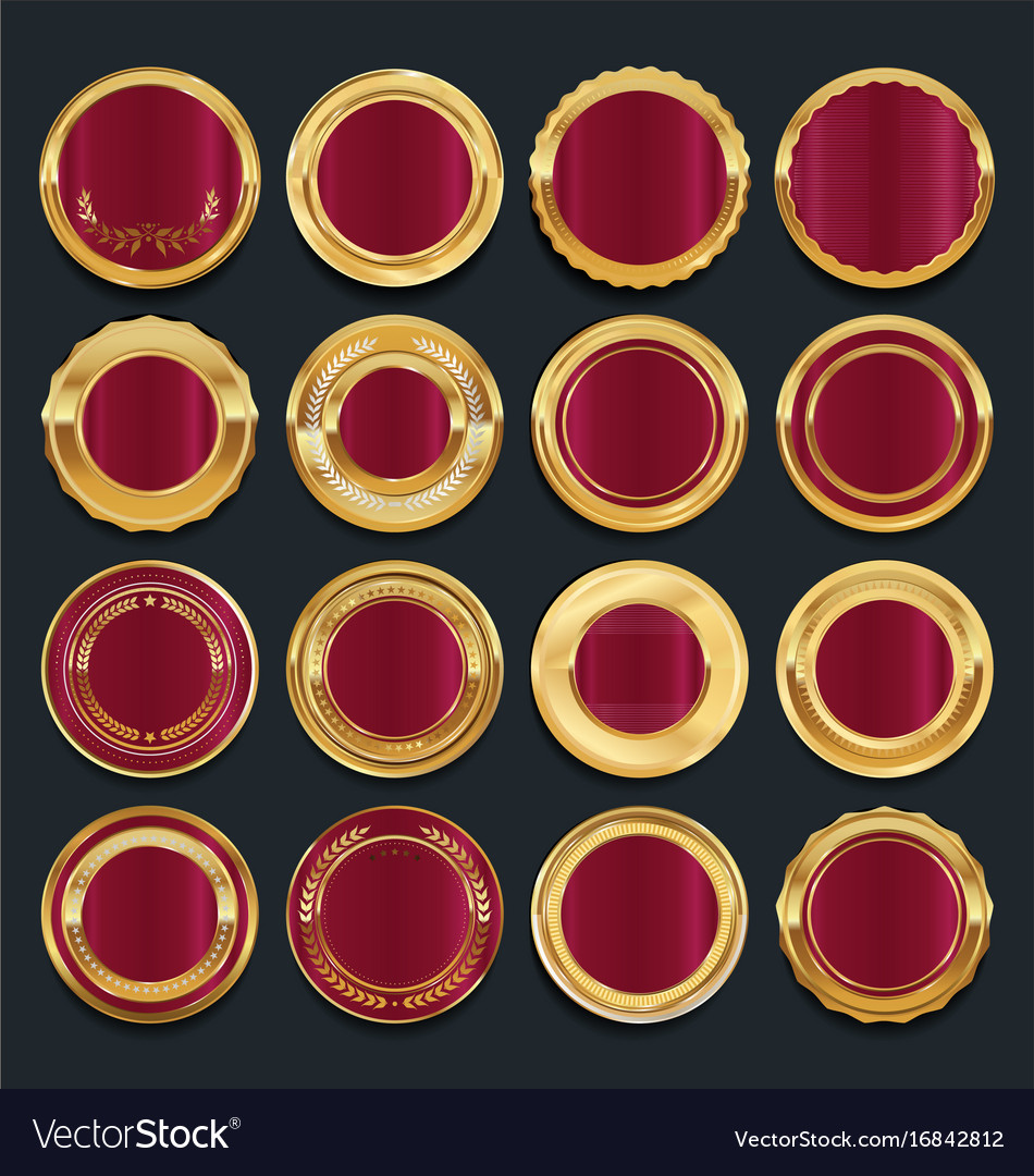Luxury golden design elements collection 5 vector image