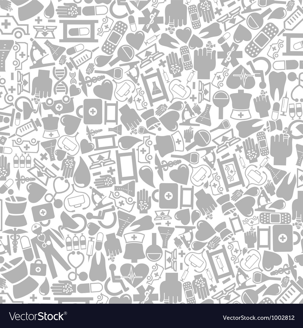 Medical icons background vector image