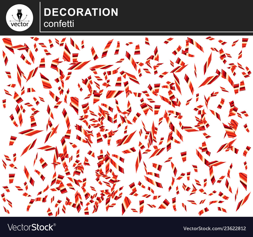 Red shiny confetti