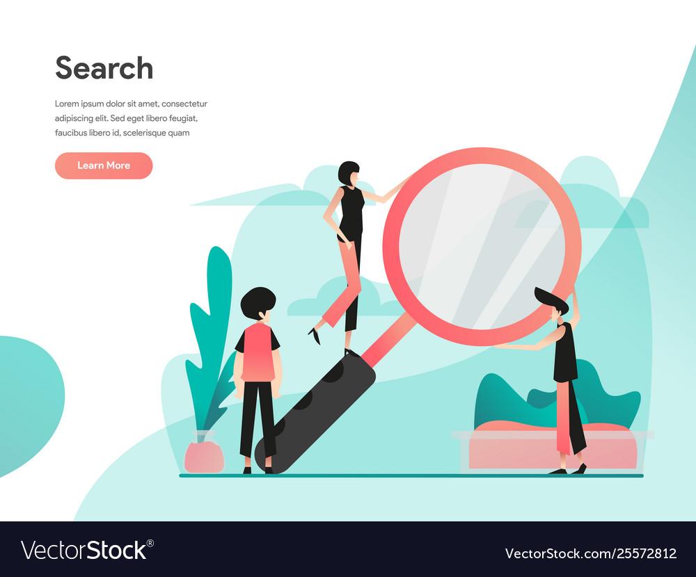 Search concept modern flat design concept web