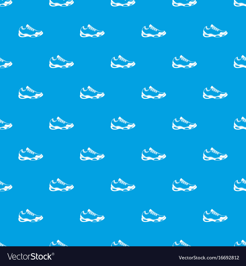 Sneakers for tennis pattern seamless blue