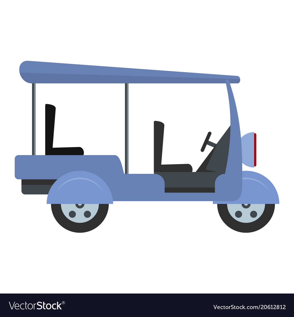 Tourism taxi icon flat style
