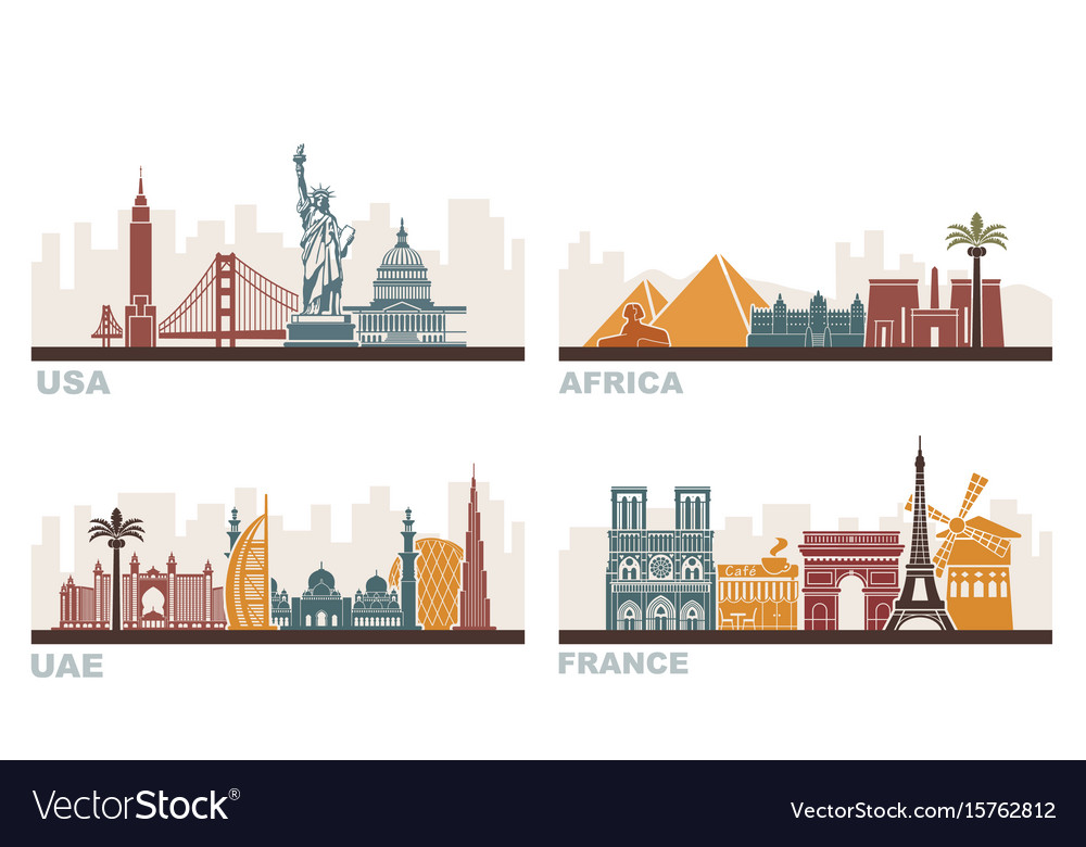 Usa france uae and africa architectural