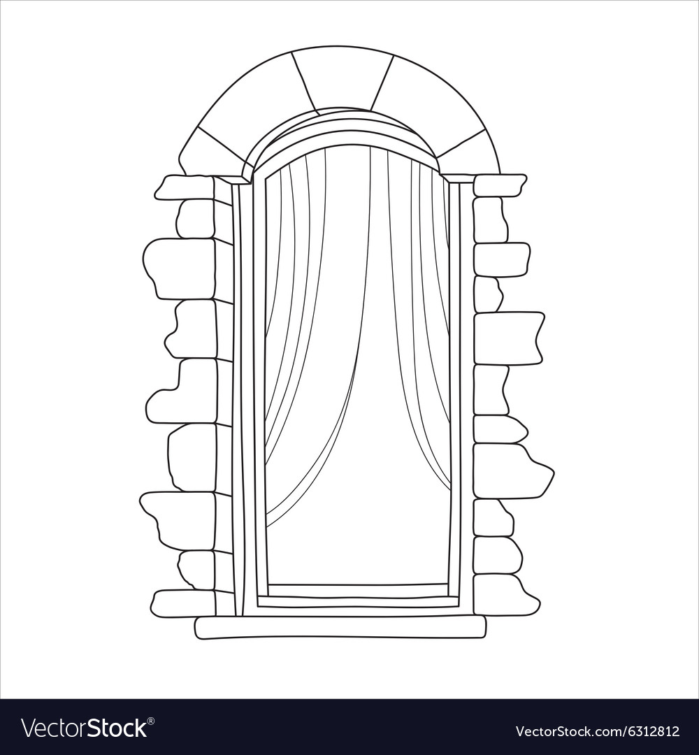 Vintage Window Vector Image