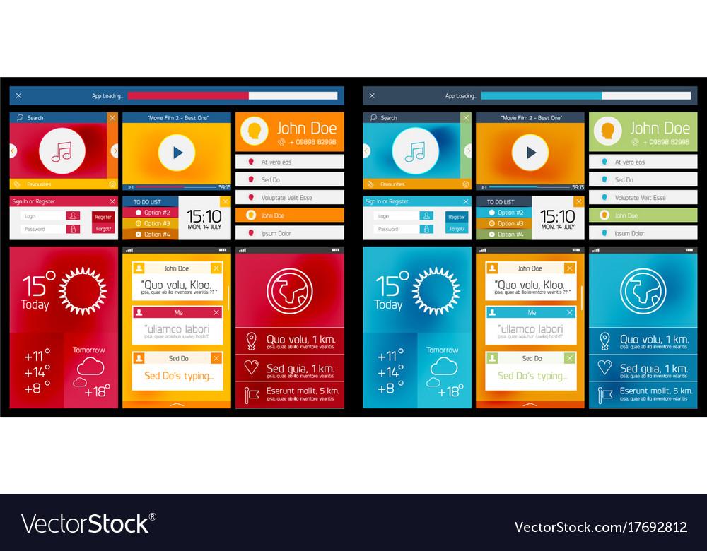 Web design scheme of ui