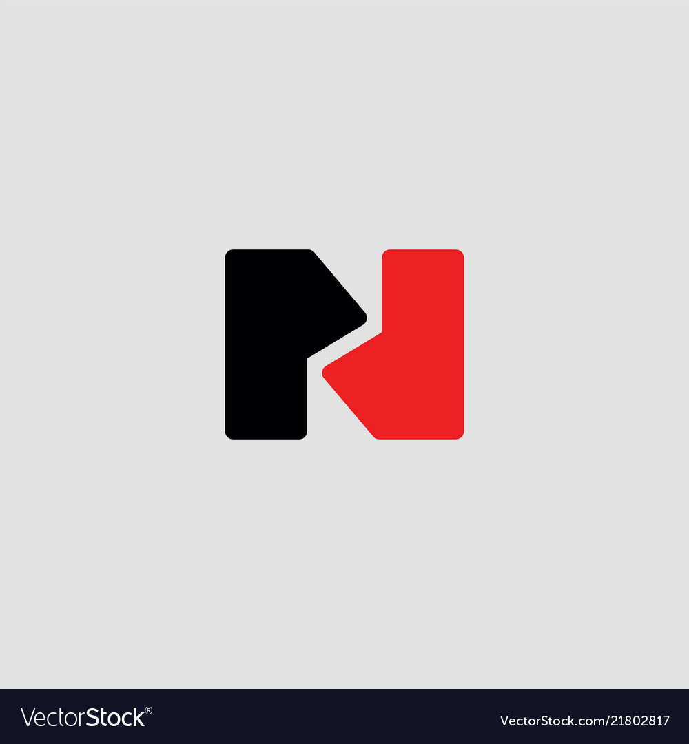 Abstract letters n logo design