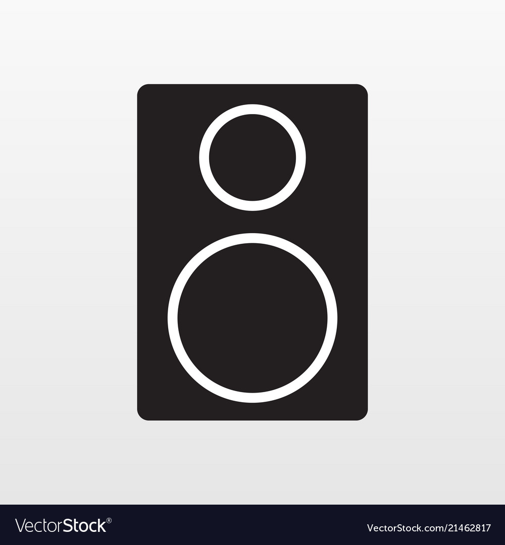 Audio acoustic apparatus icon isolated on backgrou
