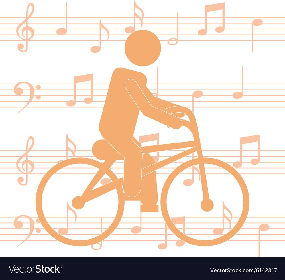 Cycling man silhouette