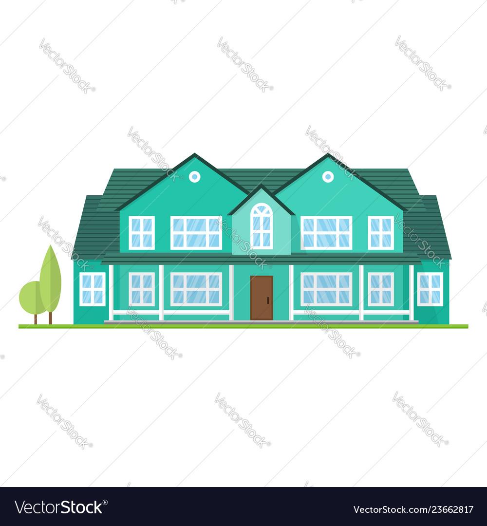 Flat suburban american house for web