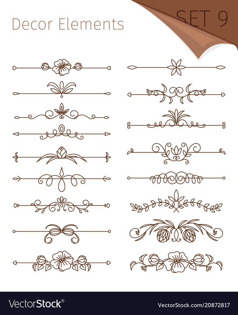 Ornate retro floral dividers