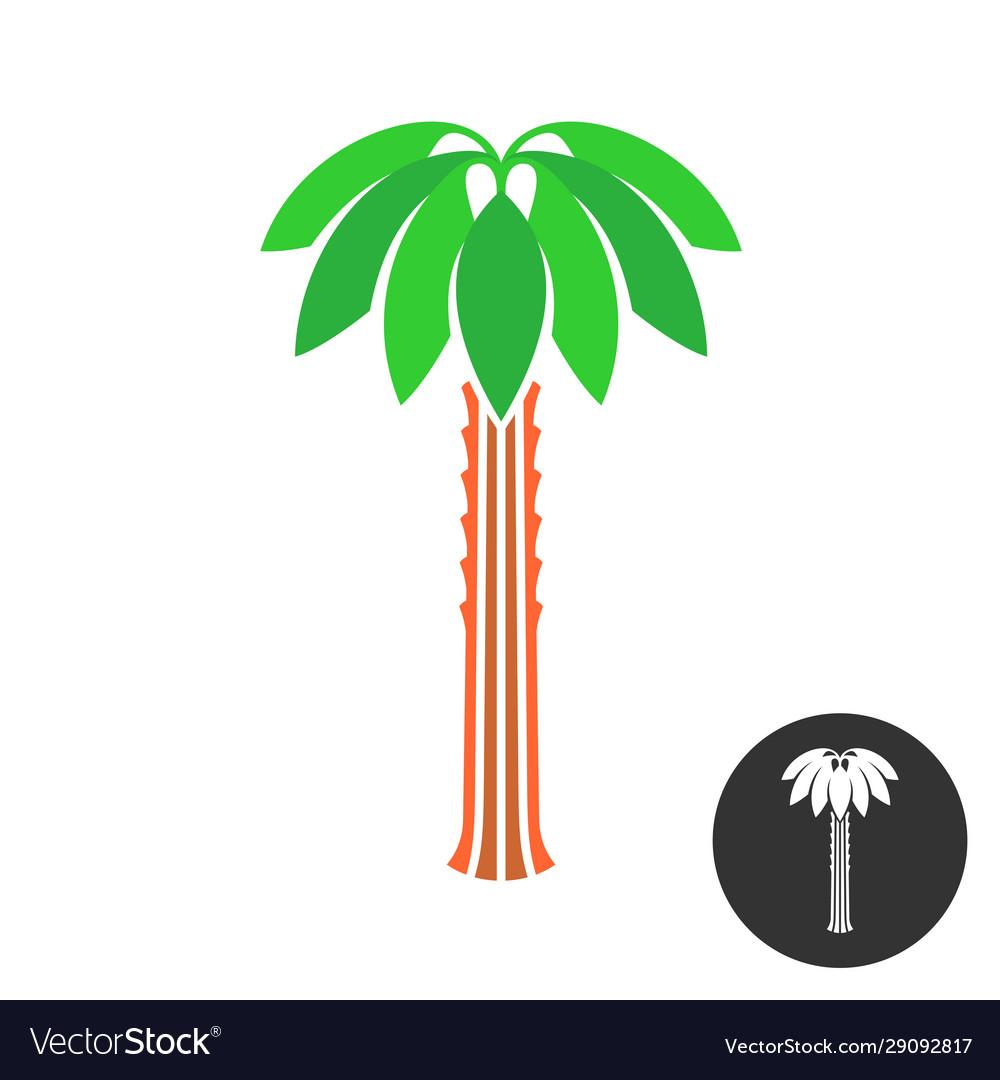 Palm tree logo tropical theme nature symbol