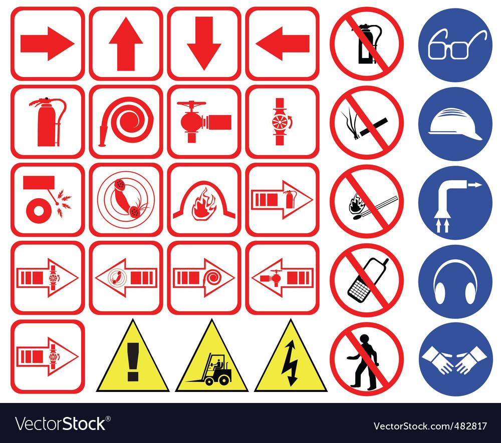 Safety Hazard Signs Royalty Free Vector Image Vectorstock