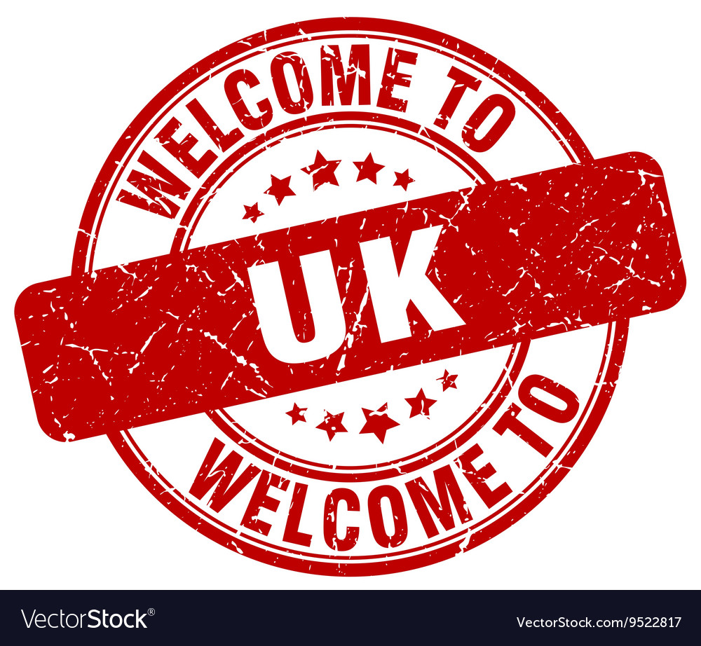 Welcome To Uk Royalty Free Vector Image Vectorstock