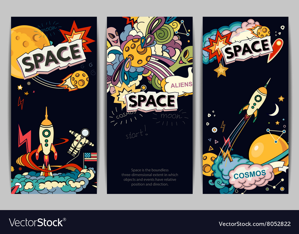 Banner of space vector image