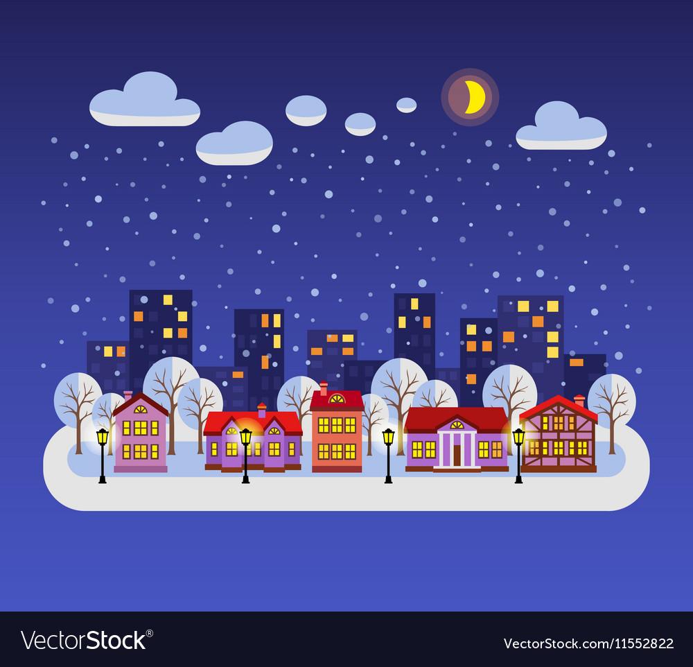 Christmas cityscape