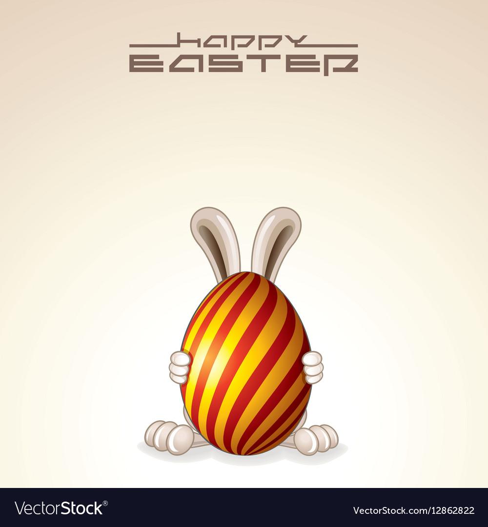 Easter Egg Bunny Design vector image