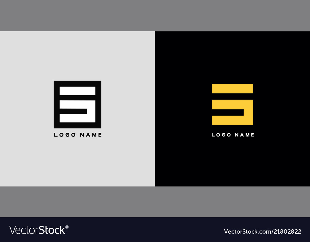Geometric letter s architecture icon