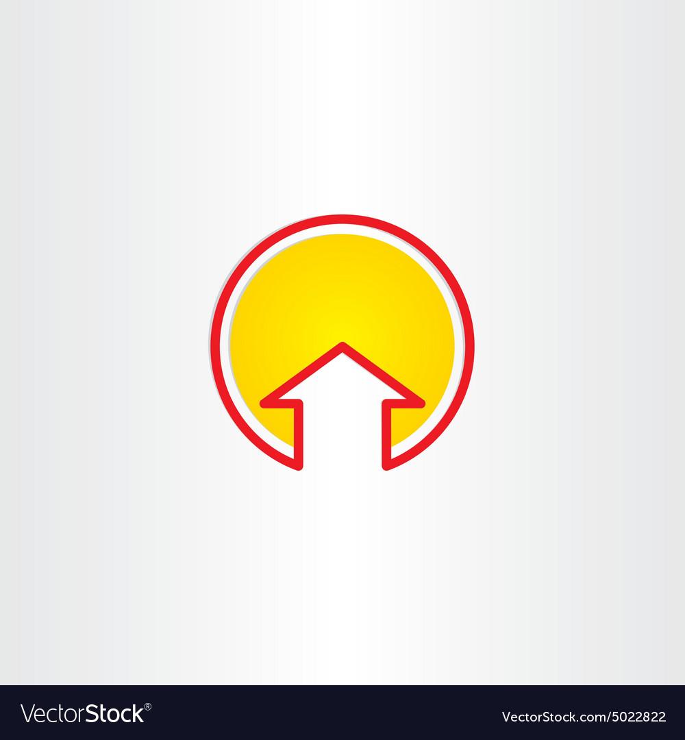 House or arrow up symbol
