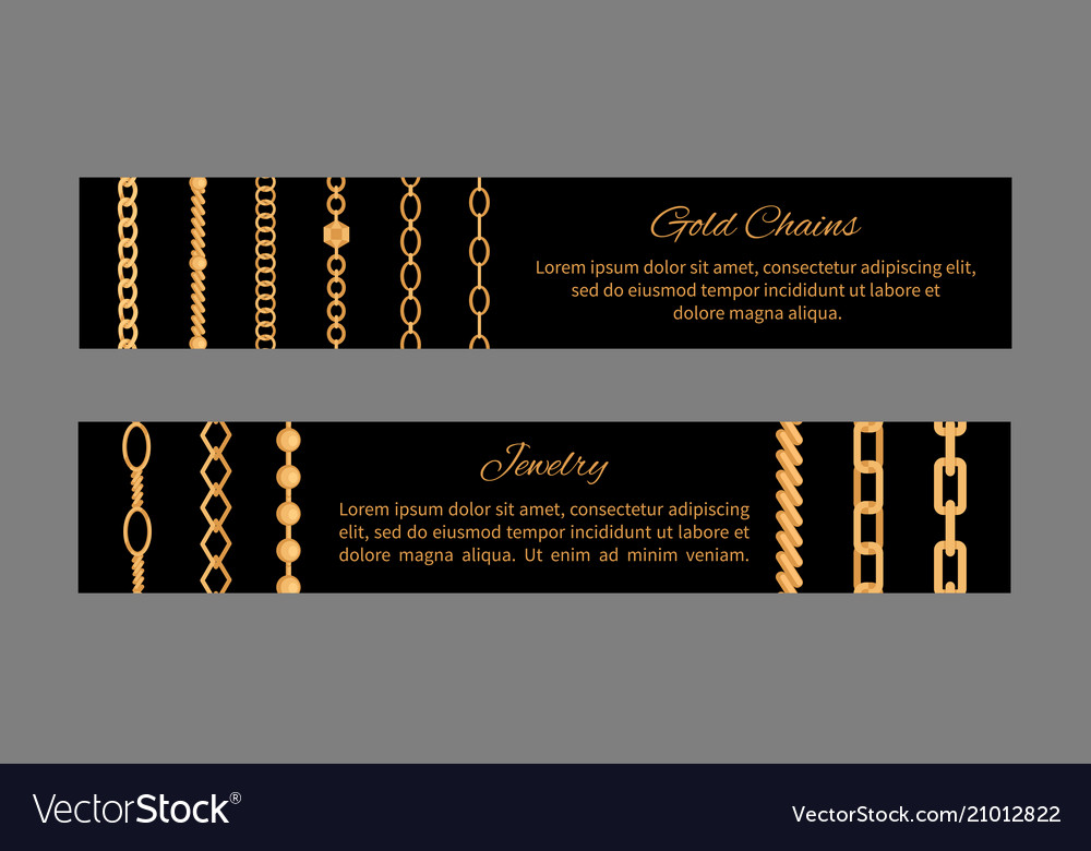 Jewelry gold chains templates