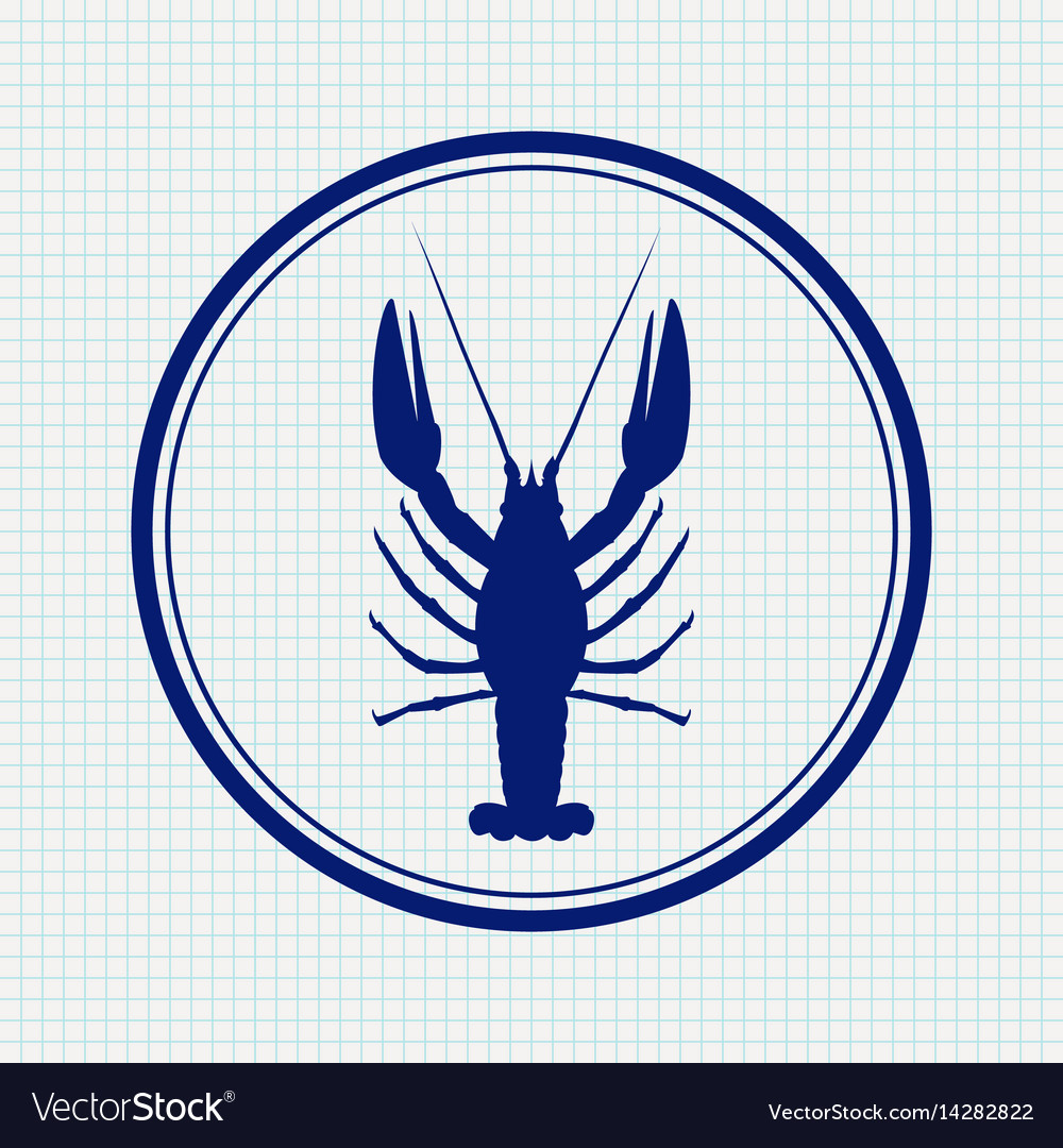 Lobster hand drawn sketch icon