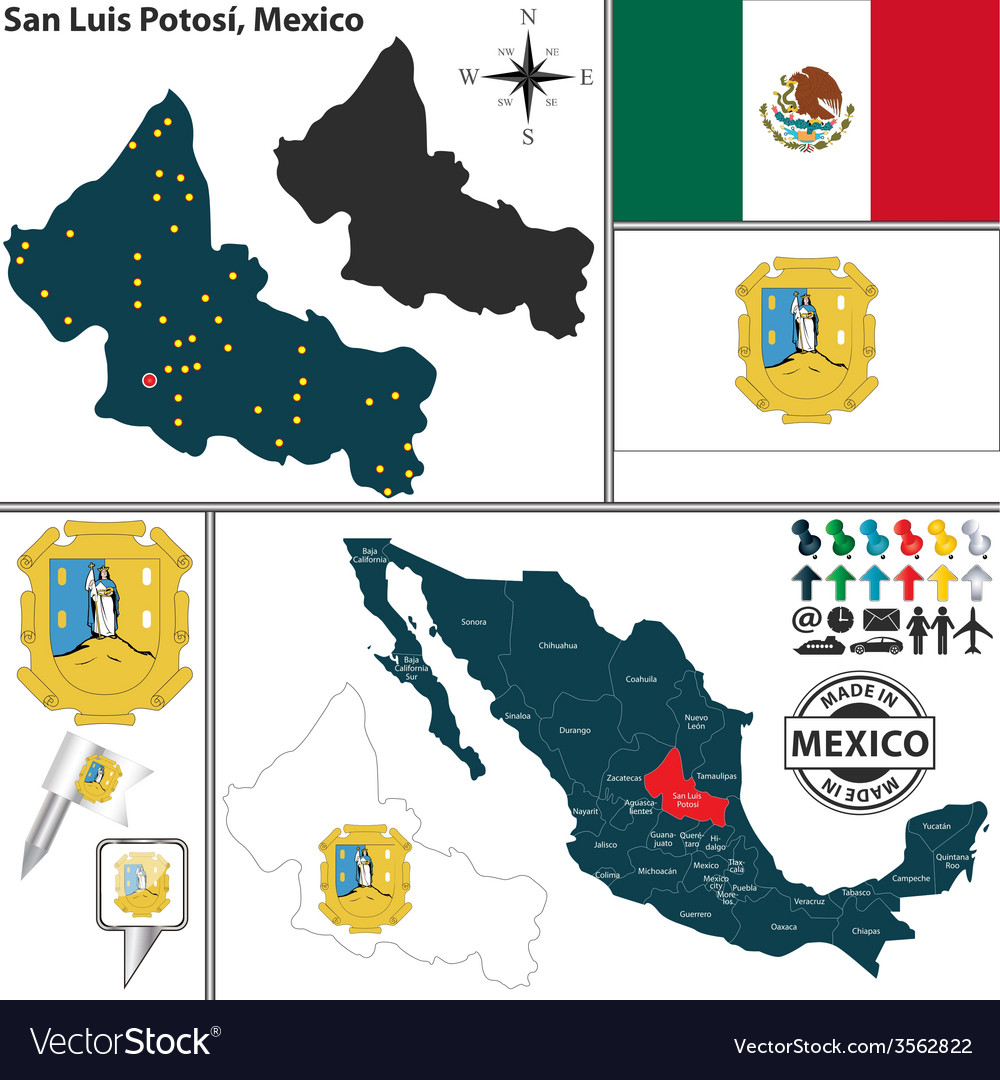 Map of San Luis Potosi Map Of Luis on map of rumbek, map of wu, map of siu, map of chicago,