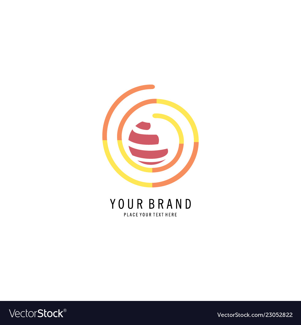 Round abstract logo