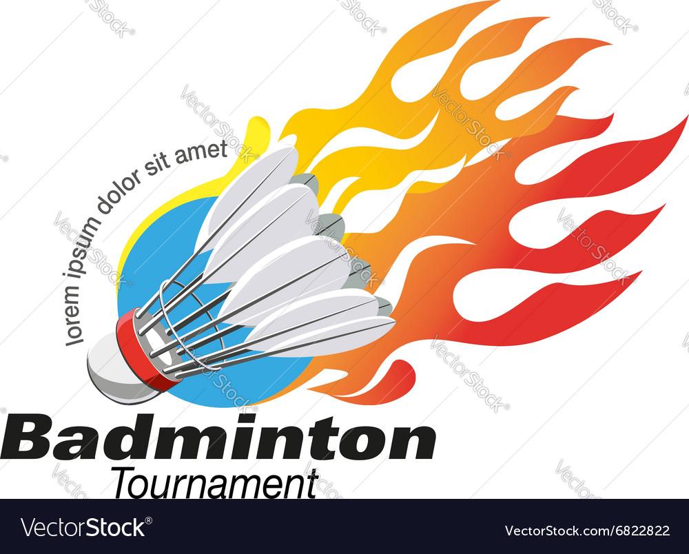 Shape badminton tournament logo event
