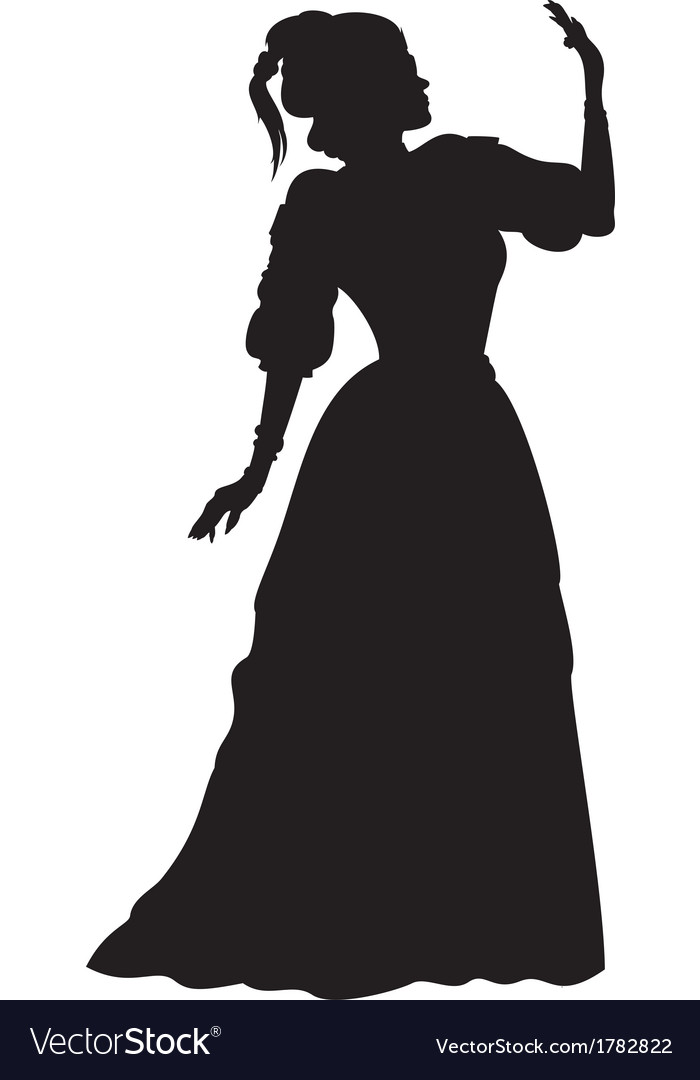 Lady, In, Ball & Gown Vector Images (48)