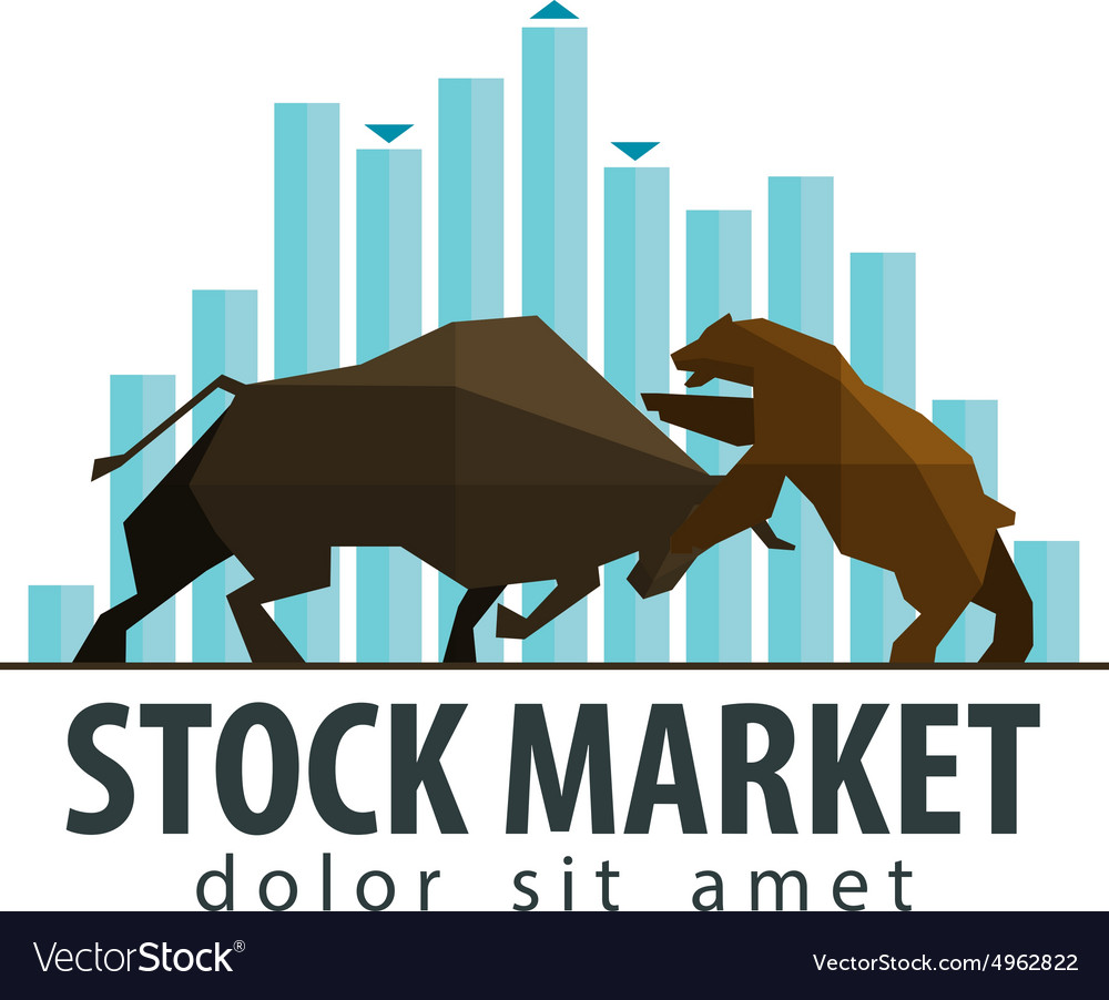 Stock market business logo design template vector image flashek Images