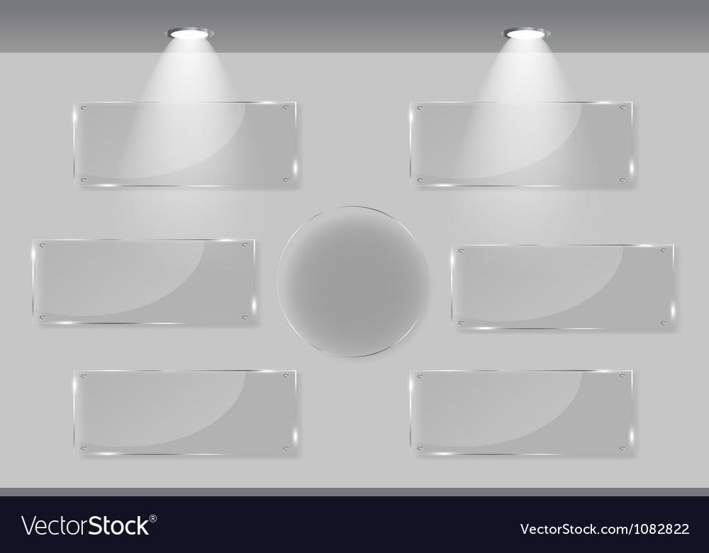 White frames in art gallery