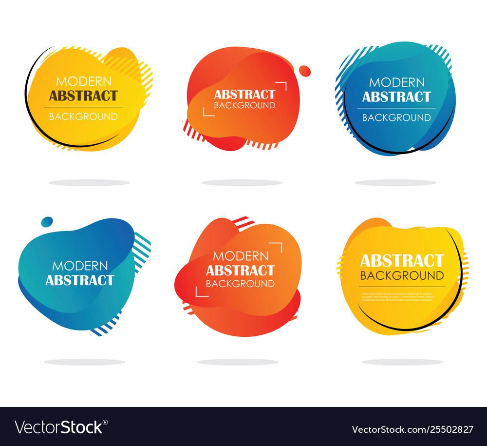 Abstract modern liquid shape multicolor banner