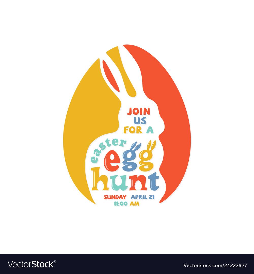 Colorful easter egg hunt lettering