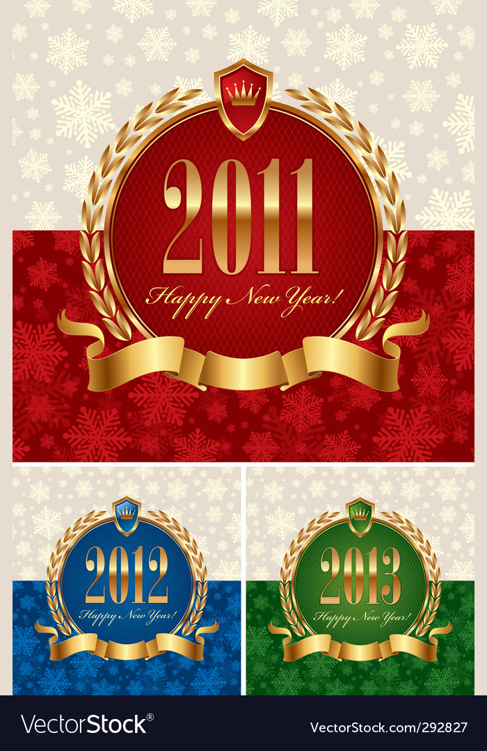 Happy new year frame vector image