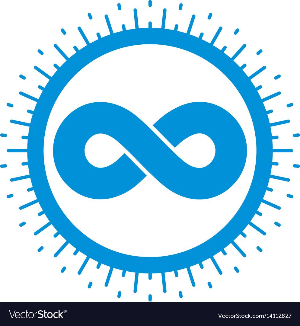 Infinity loop symbol conceptual logo special