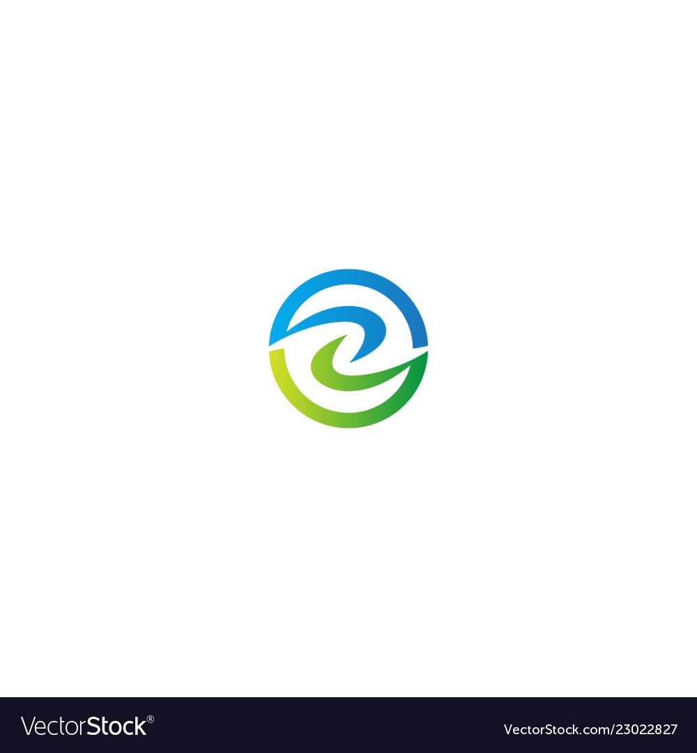 Round circle eco abstract logo