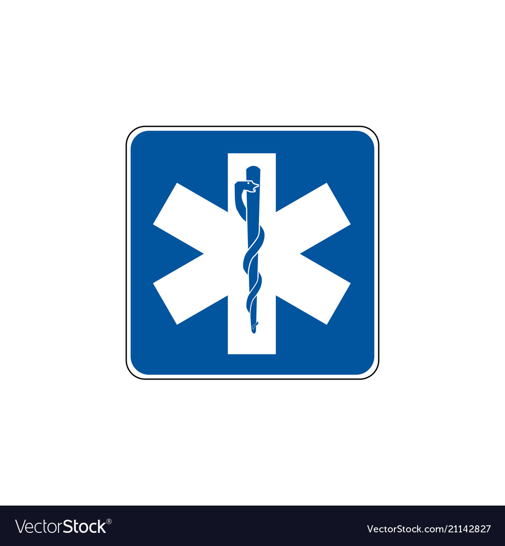 Usa traffic road signs emergency medical service