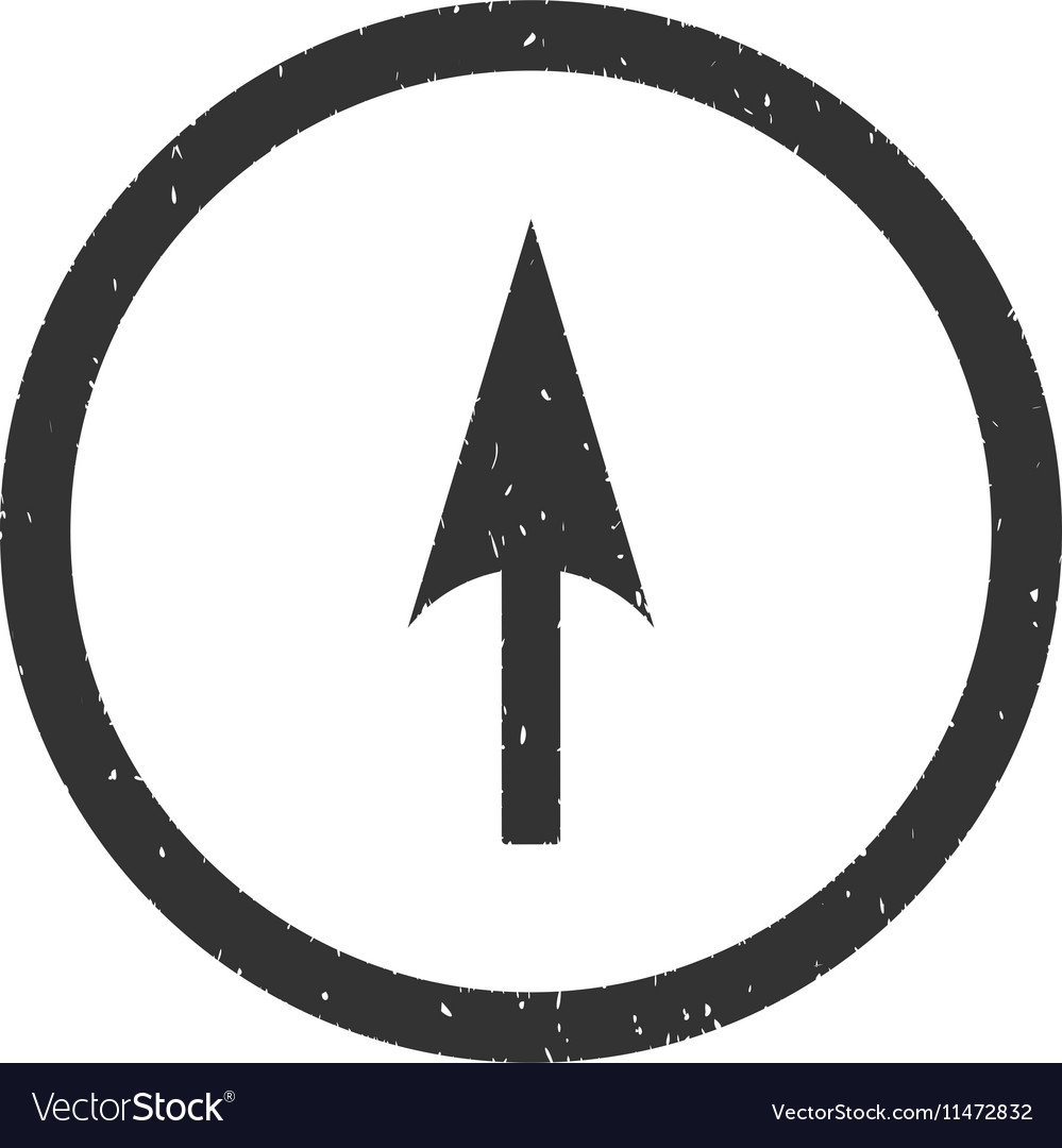 Arrow Axis Y Icon Rubber Stamp
