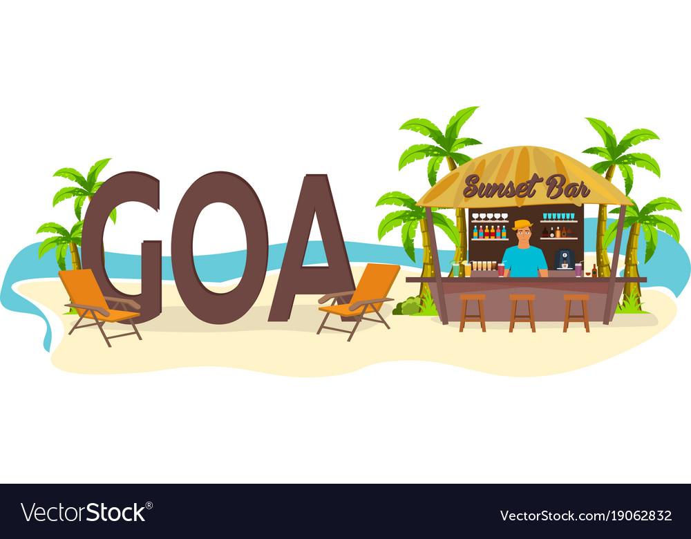 Beach bar goa india travel palm drink summer