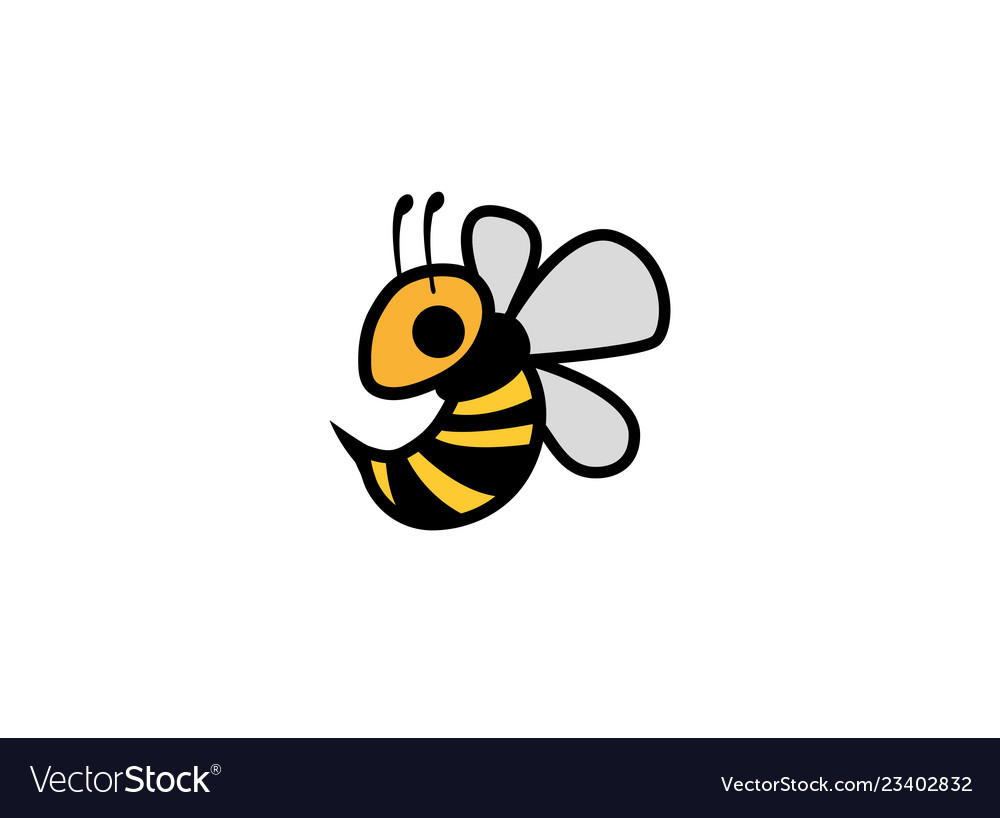 Bee flying tingling bees logo