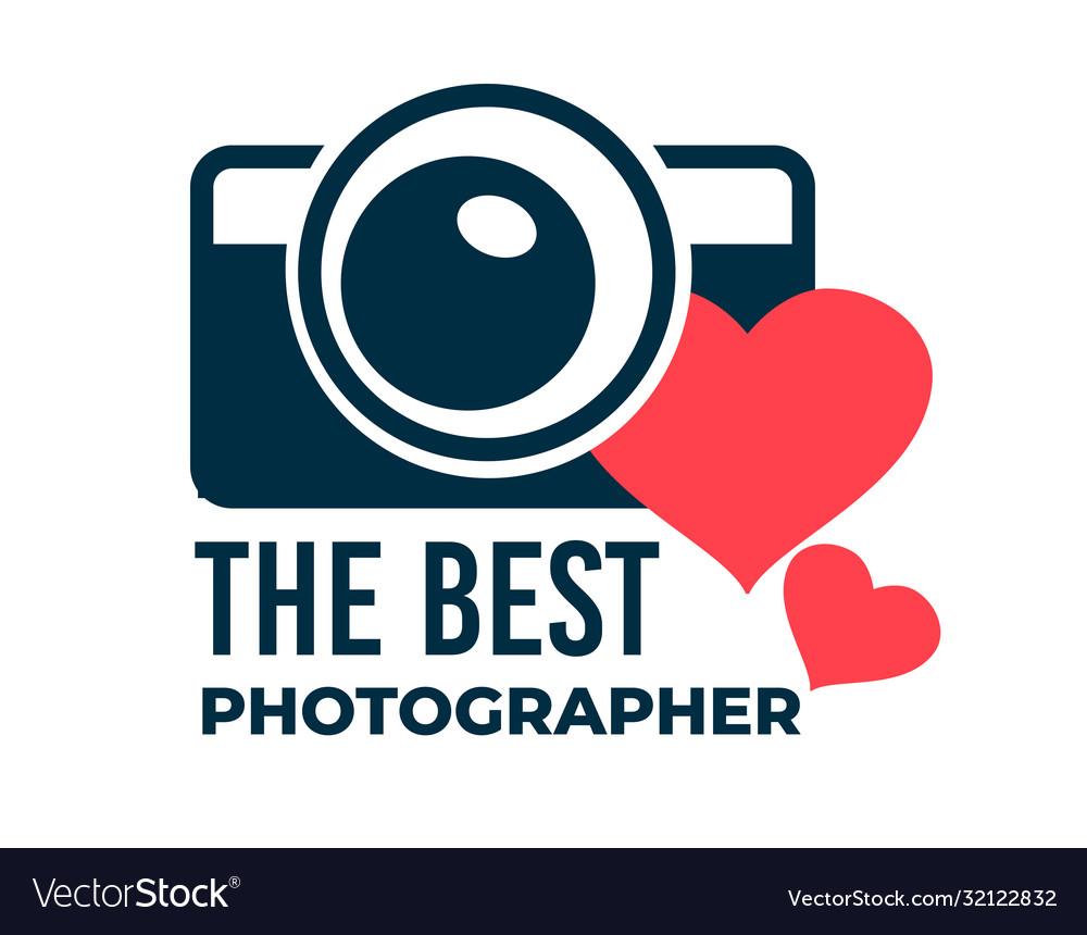 Best photographer photo studio logotype or award