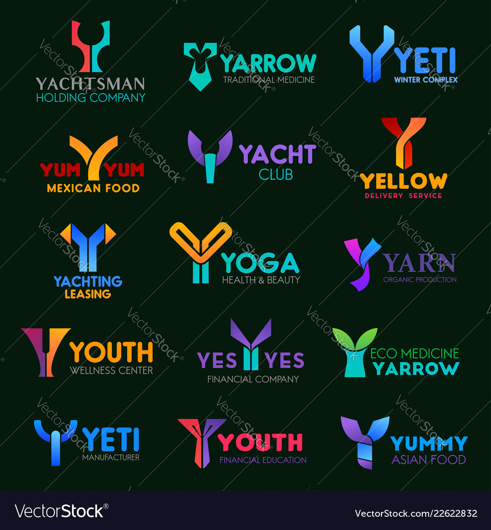 Business corporate identity of letter y