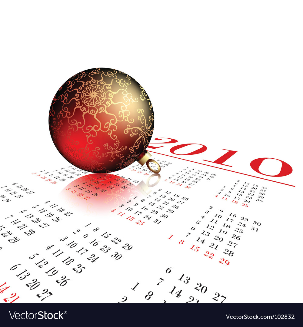 Fir ball on calendar