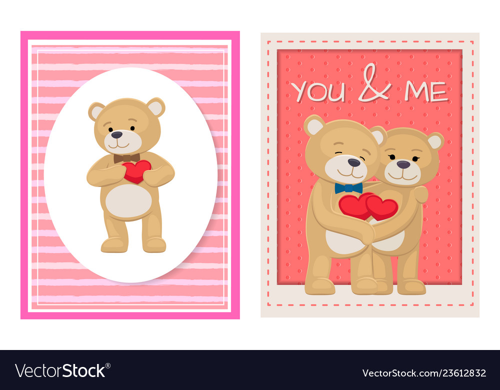 I love you and me teddy bears