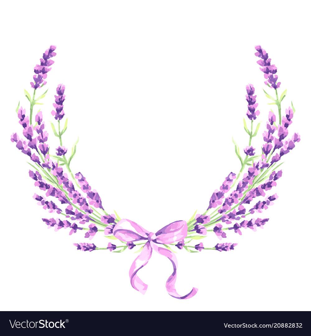 Lavender flowers decorative element
