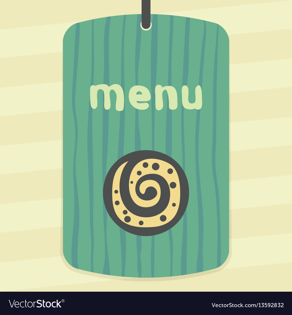Outline sweet roll cookie icon modern infographic vector image