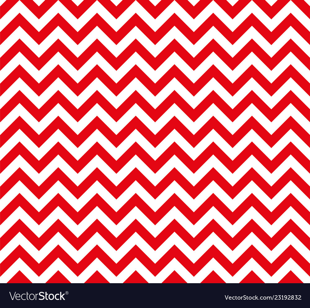 Red and white zig zag seamless pattern
