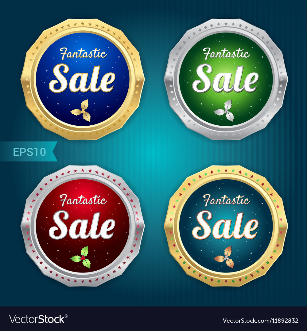 Set of sale tag label and badge