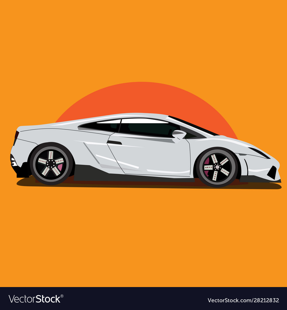 Sports racing car art